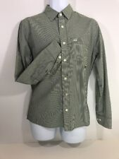 Abercrombie & Fitch Men's Button Front Long Sleeve Shirt Small Muscle Striped