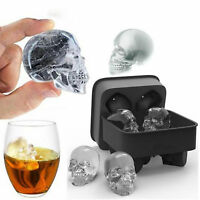 Silicone Trays Chocolate Mould 3D Skull Shape Ice Cube Mold Maker Bar Party