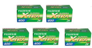 Fuji Superia X-tra 400 Color film 35mm/  NPH  24 Exp. 5 Rolls Expired 06/2019