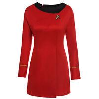 Ladies Deluxe Uhura Original Star Trek Fancy Dress Costume Adult Outfit Women
