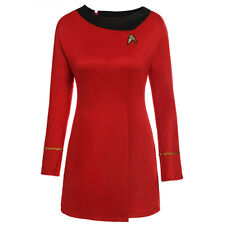 Star Trek The Female Duty Classic Red Blue Uniform Halloween Party Cosplay Dress