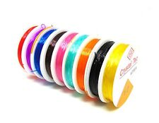10 Rolls of mixed colour stretch elastic 0.8mm Threading ( 5 metres per roll )