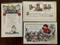 Lot of 3~Humanized~Clocks~ Boxes~Anthropomorphic New Year~Fantasy Xmas Postcards