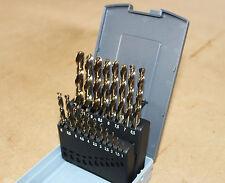 19 Pezzi HSS Set Punte Trapano 1mm - 10mm x 0.5mm metrico jobber bit fai da te