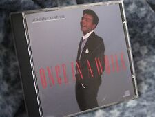 """JOHNNY MATHIS CD """"ONCE IN A WHILE"""" JON-MAT RECORDS 1988 COLUMBIA"""