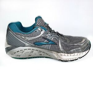 Brooks Addiction MoGo DNA Gray Teal Running Shoes Womens Size 9.5