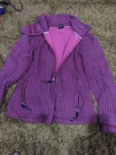 Ladies Bench Jacket Size XL Purple Check