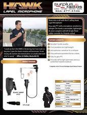 Hawk Quick Release Tactical Police Lapel Microphone Headset EP1305QR Motorola
