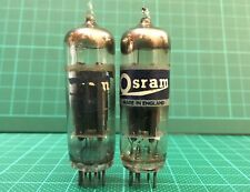 Pair Osram GEC U78 6X4 CV4005 from 1954-55 Welded Plates Square Getter Test New