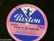 78rpm library music DOLF VAN D LINDEN parade of champions / sports parade PR 585