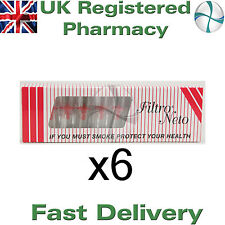 6 x 10 Filtro Neto Cigarette Holder Filters Tips Reduce Tar and & Nicotine (60)