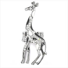 "Giraffe Costume Jewelry Animal Cocktail Rings White Black Crystal Clear 2.7"" Adj"