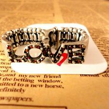 Vintage style love double finger stretch ring