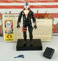 Original 1983 GI JOE DESTRO V1 UNBROKEN COMPLETE figure Cobra ARAH file card