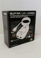 Behringer Guitar Link UCG102 USB Audio Recording Computer Interface w/ Software