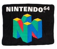 New Nintendo 64 Video Game Console Plush Fleece Gift Throw Blanket NES Original