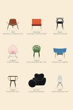 """Milieu du siècle moderne chaise art imprimé poster 16"""" x 24"""""""