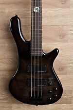 2017 Wolf S8 4 String Active Passive Jazz Bass Black