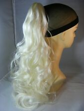 """Hairpiece Clip-On Color #613A White Blonde 20"""" long by Mona Lisa"""