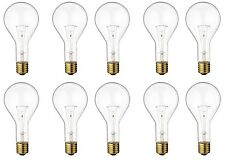 Satco S4961 - 300 watt PS35 Incandescent Bulb, Clear, Mogul Base - 10 Pack