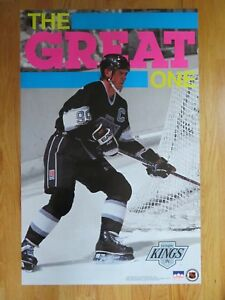 "1991 Starline WAYNE GRETZKY No. 99 LOS ANGELES KINGS ""The Great One"" Poster"