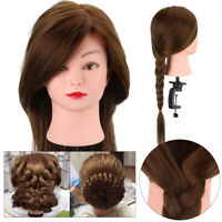Salon Human Hair Practice Training Head Mannequin Hairdressing Doll With Clamp