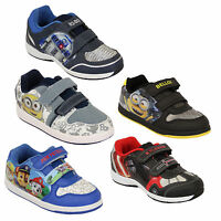 Boys Trainers Despicable Me Minion Star Wars Disney Shoes Kids Bello Paw Patrol