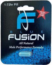 Blue fusion Male Enhancement for Hard Long Erections pleasure  - 1 Blister Pack!
