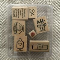 SUPER 2005 STAMPIN' UP UNDER THE WEATHER FEEL BETTER SCRAPBOOK STAMP SET OF 6