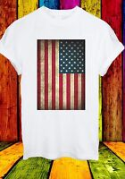 Vintage Retro USA Flag America American NYC Miami Men Women Unisex T-shirt 103
