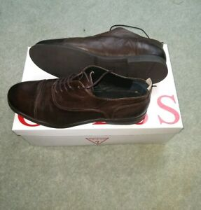 Guess Mens Dave Leather lace-up shoes size 9 BNIB