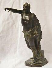 Sculpture Bronze statue Gladiateur Gladiator AVE CAESARE