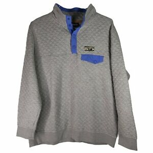 Patagonia Women's Organic Cotton Quilt Snap-T Pullover XL Gray Purple