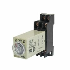 H3Y-2 DC 12V  Delay Timer Time Relay 0 - 5 Minute with Base