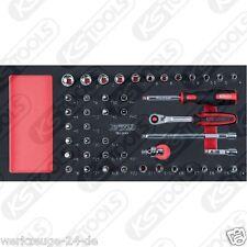 """KS toolsscs CHROME 1/4 """" Jeu de douilles, 45 pièces 1/3 Insert système 783.0045"""