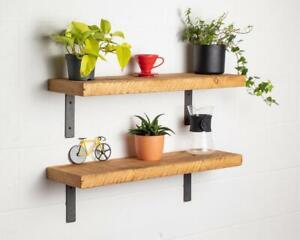 Reclaimed Lipped Metal Bracket Shelf - Metal Bracket Shelf