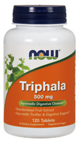 Now Foods TRIPHALA Ayurvedic Digestive Cleanser 500 mg -120 tablets COLON DETOX