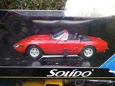 SOLIDO 1/18em: FERRARI DAYTONA 365 GTS cabriolet rouge, état neuf en boite