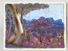 Original Hermannsburg Watercolour Signed Steven Walbungara
