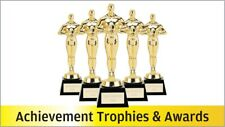 10  x Gold Oscar Style Prom Marble Base School Trophy Award 6.5in ENGRAVED FREE