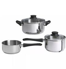 Brand New Ikea ANNONS 5 Piece Cookware Set- Stainless Steel- Free Shipping