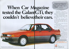 """Mitsubishi Galant GTi """"Believe Their Ears"""" 1988  Magazine 2 Page Advert #3881"""