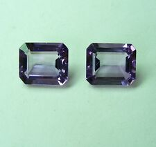 NATURAL 14.64ct AMETHYST MATCHED PAIR EXPERTLY FACETED IN GERMANY+CERT AVAILABLE