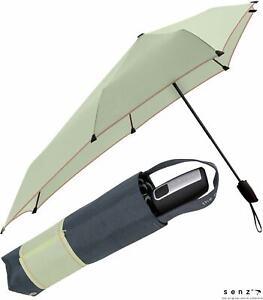 senz Regenschirm Taschenschirm stabil sturmsicher Auf-Zu-Automatik green yarn