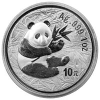 2000 China 1 oz Silver Panda 10Y Coin GEM BU SKU56260