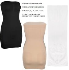 TUBE DRESS UNDERWEAR STRAPLESS BODY SHAPER FIRM SLIMMING SMOOTH CONTROL WOMEN UK