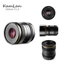 Kamlan 28mm f/1.4 Large Aperture Manual Focus Lens for Sony-E Mirrorless Cameras