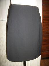 Jupe habillé droite laine/polyester noir cotelé stretch CAROLL 40/42 fendue