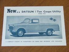 c1964 Datsun Coupe Ute original Australian double sided single page brochure