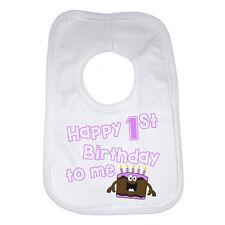 HAPPY primo compleanno, per me pesonalised FUNNY BABY BAVAGLINO PER RAGAZZE GRANDE IDEA REGALO